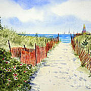Path To East Beach-watch Hill Ri Poster