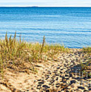 Path To The Lake Superior Beach Poster