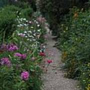 Pathway Of Monet's Garden Poster