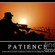 Patience Inspirational Quote Poster by Stocktrek Images