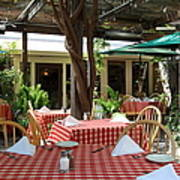 Patio Dining At The Swiss Hotel In Downtown Sonoma California 5d24439 Poster by Wingsdomain Art and Photography