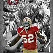 Patrick Willis 49ers Poster by Joe Hamilton