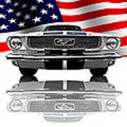 Patriotic Ford Mustang 1966 Poster