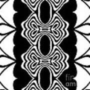 Pattern Black White Abstract Art No.293. Poster