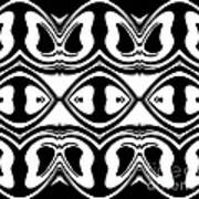 Pattern Black White Geometric Art No.188. Poster