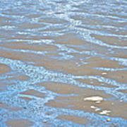 Pattern In Mud Flats At Low Tide In Kachemak Bay From Homer Spit-alaska Poster