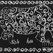 Patterned Rhino Poster