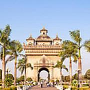 Patuxai Gate - Vientiane - Laos Poster
