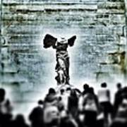 Pause - The Winged Victory In Louvre Paris Poster
