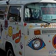 Peace And Love Van Poster