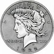 Graphite Peace Dollar Poster