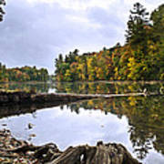 Peaceful Autumn Lake Poster by Christina Rollo