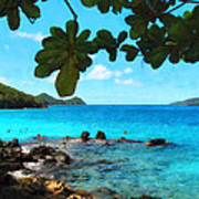 Peaceful Beach St. Thomas Poster