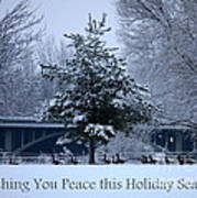 Peaceful Holiday Card - Winter Landscape Poster