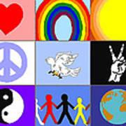 peaceloveunity Mosaic Poster