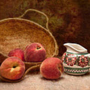 Peaches And Cream Still Life II Poster by Tom Mc Nemar