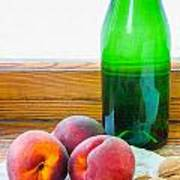 Peaches And Walnuts With Bottle Poster