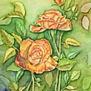 Autumn Roses Poster