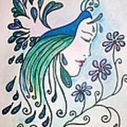Peacock Dawn Poster