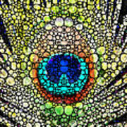 Peacock Feather - Stone Rock'd Art By Sharon Cummings Poster