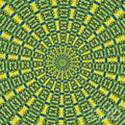 Peacock Feathers Kaleidoscope 2 Poster