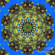 Peacock Feathers Kaleidoscope 9 Poster