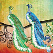 Peacock Love Poster