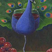 Peacock Pinot Poster by Debbie McCulley
