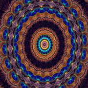 Peacock Pinwheel Poster