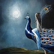 Peacock Princess By Shawna Erback Poster