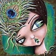 Peacock Princess Poster