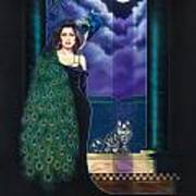 Peacock Woman Poster