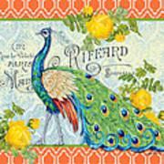 Peacocks In The Rose Garden-3 Poster