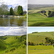 Peak District Collage 01-plain Poster