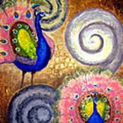 Peacock Swirl Poster