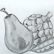 Pear Artichoke Snap Pea Poster