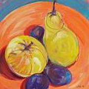 Pear Plums Apple Poster