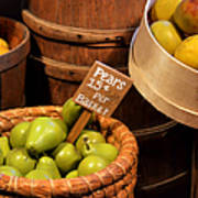 Pears - 15 Cents Per Basket Poster