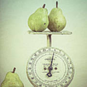 Pears And Kitchen Scale Still Life Poster