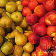 Pears And Peaches. Fresh Market Series Poster