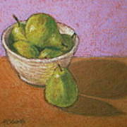 Pears In Bowl Poster