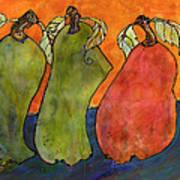 Pears Surrealism Art Poster by Blenda Studio