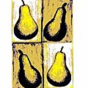 Pears- Warhol Style Poster