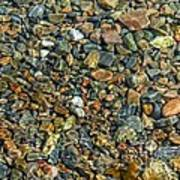Pebbled Shore At Ullapool Poster