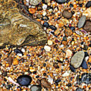 Pebbles And Sand Poster