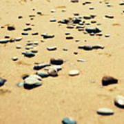 Pebbles On The Beach Poster