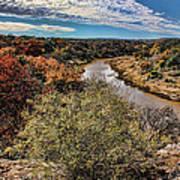 Pedernales River In Autumn Poster