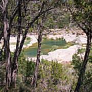 Pedernales River Pool In August Poster