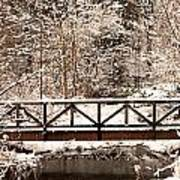 Pedestrian Bridge In The Snow Poster