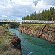 Pedestrian Bridge Over Yukon River In Miles Canyon Near Whitehorse-yk Poster